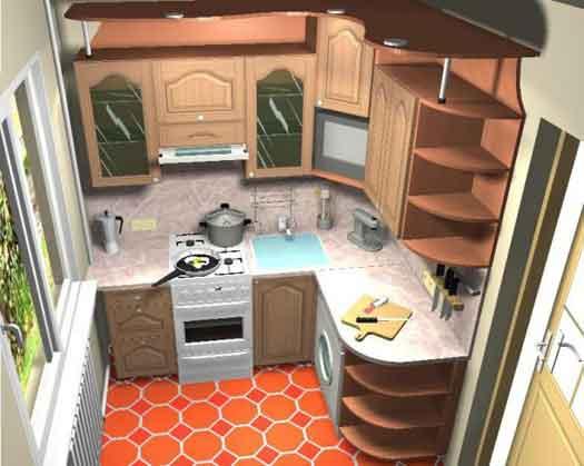 перепланировка кухни в хрущевке