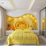 цветочные фотообои в спальню