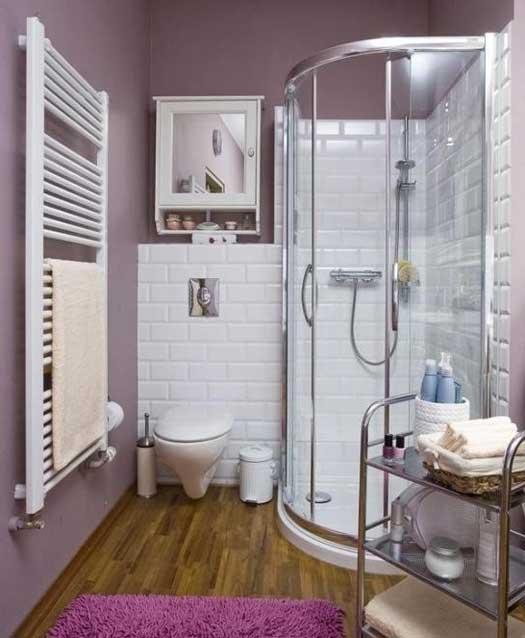 душевая в маленькой ванной