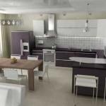 кухня гостиная в светлых тонах
