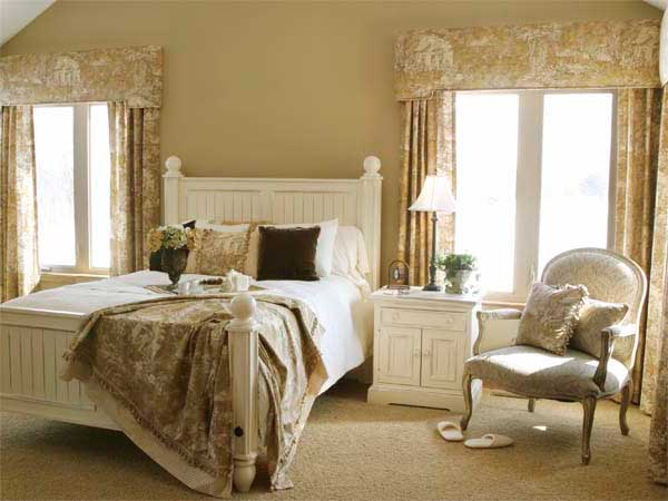 оформление интерьера спальни в стиле прованс
