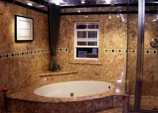 ванная с искусственным камнем