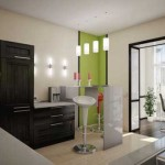 оригинальный дизайн кухни с балконом