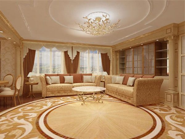 потолок в классической гостиной
