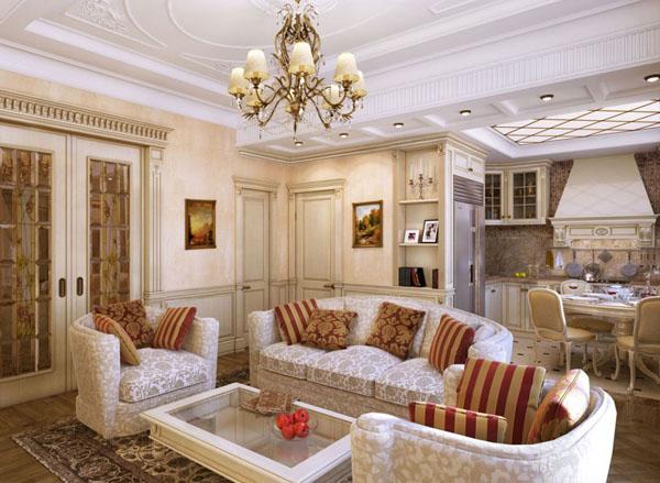 пол в классической гостиной