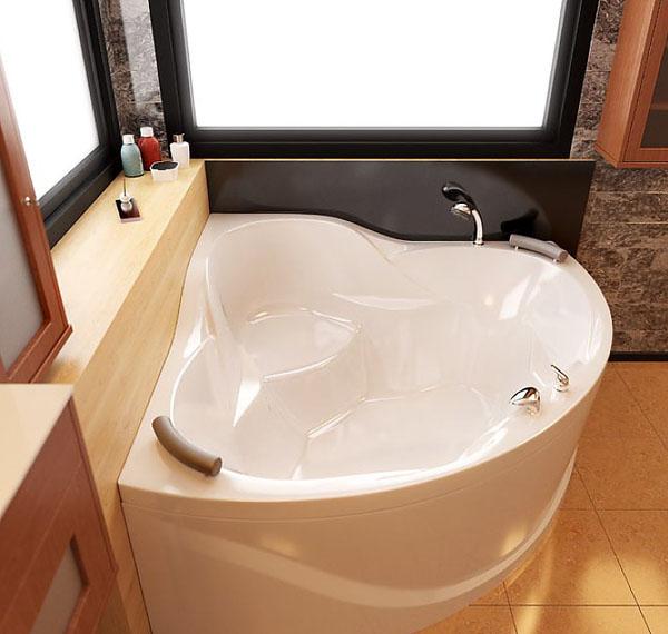 изящная форма ванны из искусственного камня