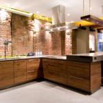 Освещение кухонь в стиле лофт