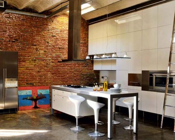 материалы для отделки кухни лофт