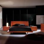 Темное цветовое решение спальни