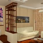 Зонирование светлой однокомнатной квартиры