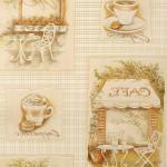 Оригинальный рисунок на обоях для кухни