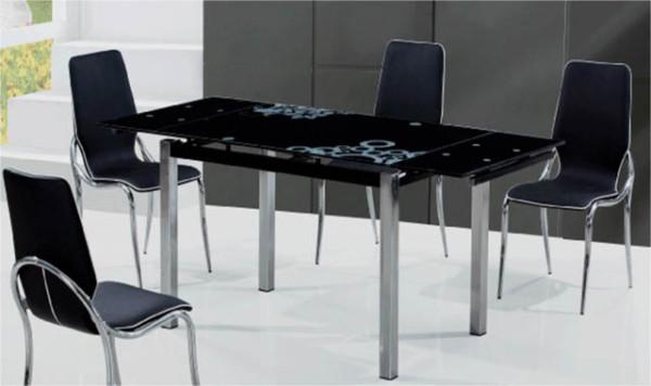 фото стеклянные столы для кухни