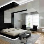 Потолки в спальне в стиле модерн