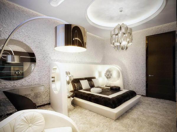 Освещение современной спальни