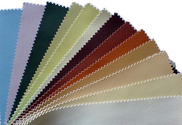 Различные цвета экокожи