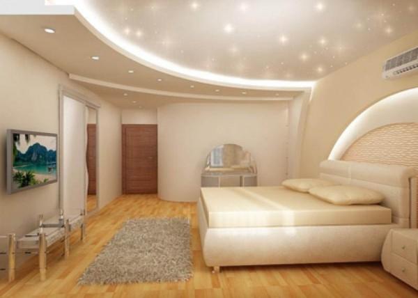 дизайн спальни потолка фото