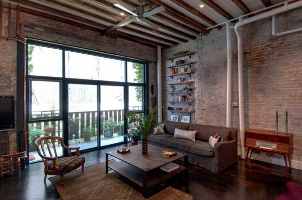 Балки декоративные потолочные в стиле лофт