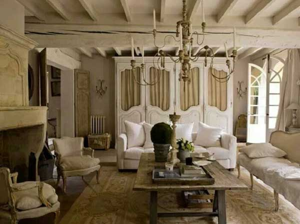 Балки декоративные потолочные в стиле прованс