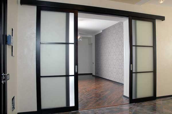 Использование раздвижных дверей в интерьере