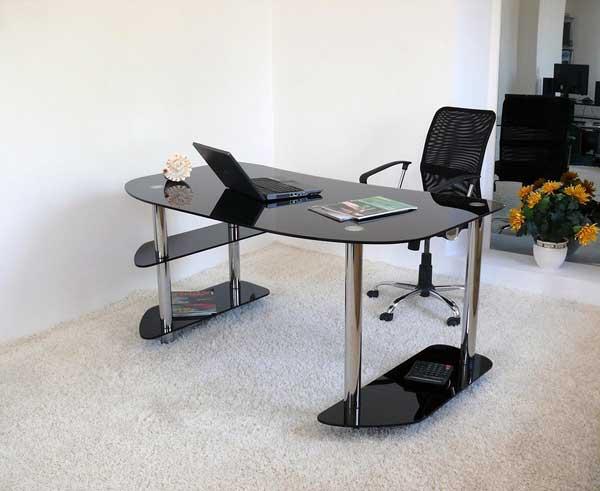 Офисные столы из стекла