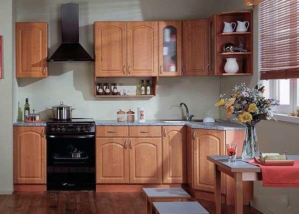 Эконом угловая кухня в стиле класика