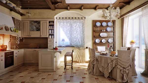 Особенности стиля прованс в дизайне кухни