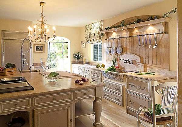 Цветовая гамма дизайна кухни в стиле прованс