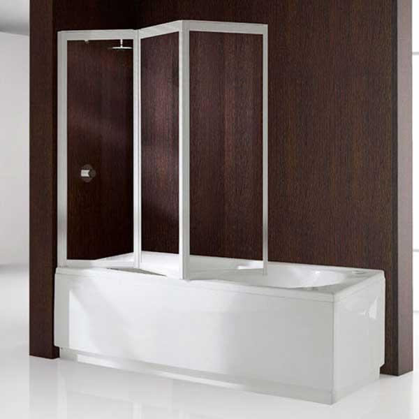 Складные стеклянные шторы для ванной