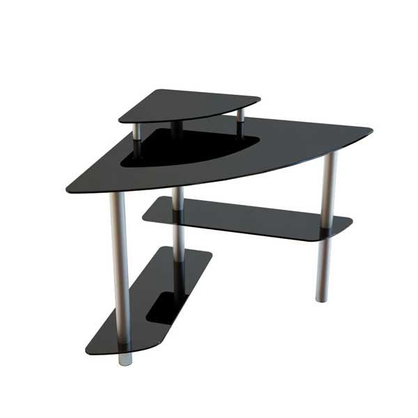 Угловые столы для офиса  из стекла