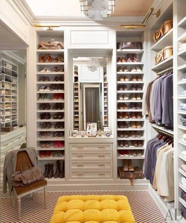 Фото гардеробной комнаты маленького размера