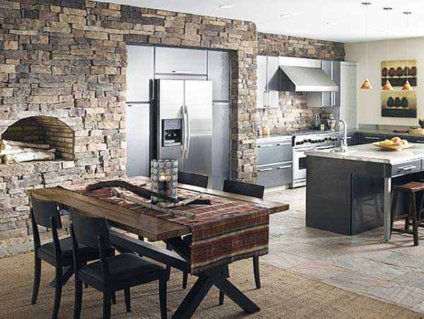 Использование искусственного камня на кухне