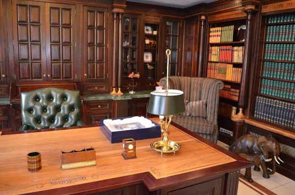 Особенности кабинета в английском стиле