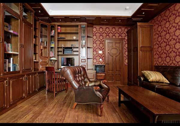 Выбор мебели для кабинета в английском стиле