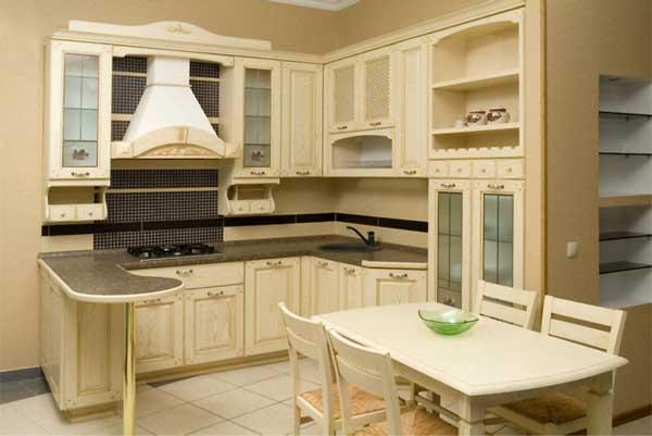 кухня в бежевых тонах дизайн фото
