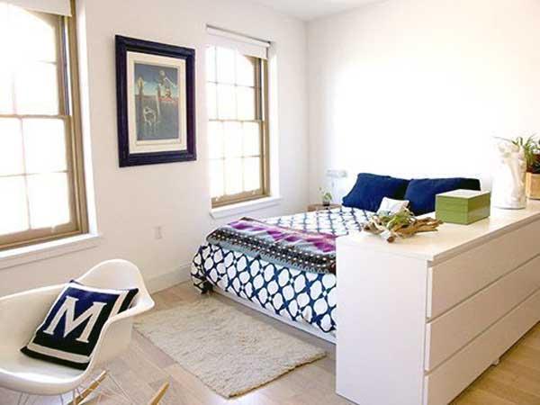 Разделение комнаты на зоны мебелью