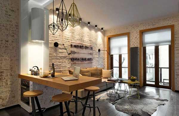 Как оформить малогабаритную квартиру в стиле лофт