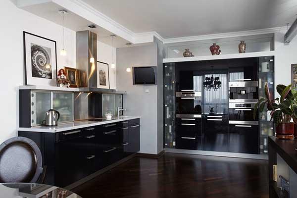 Как можно перенести кухню в коридор