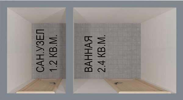 Типичная планировка санузла в панельном доме
