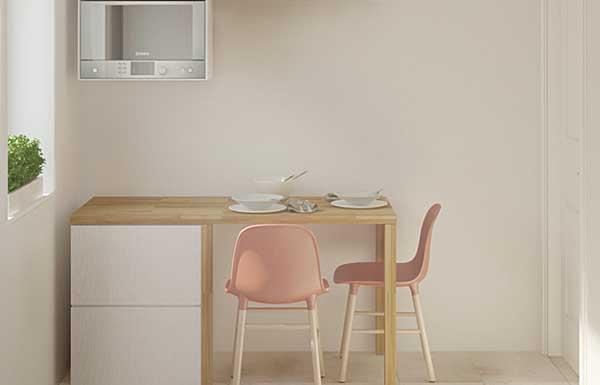 Попробуем грамотно расставить мебель на маленькой кухни