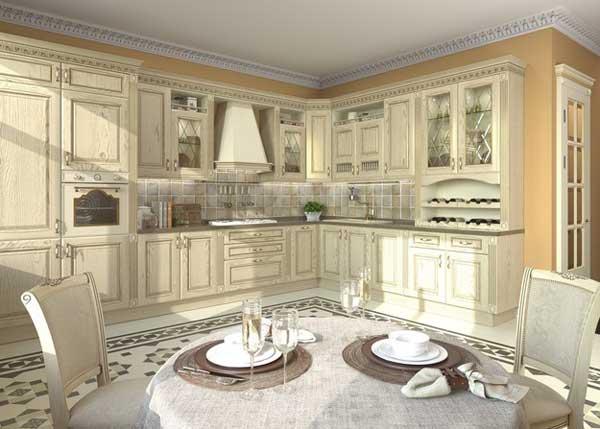 Оформление кухни-гостиной в классическом стиле