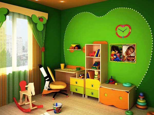 Интересный вариант дизайна детской для двух девочек