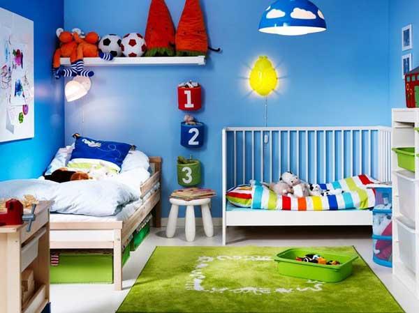 Обеспечьте в детской разноуровневое освещение