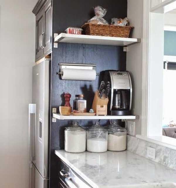 Использование боковой части ящиков для кухни