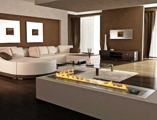 Фото гостиной с камином