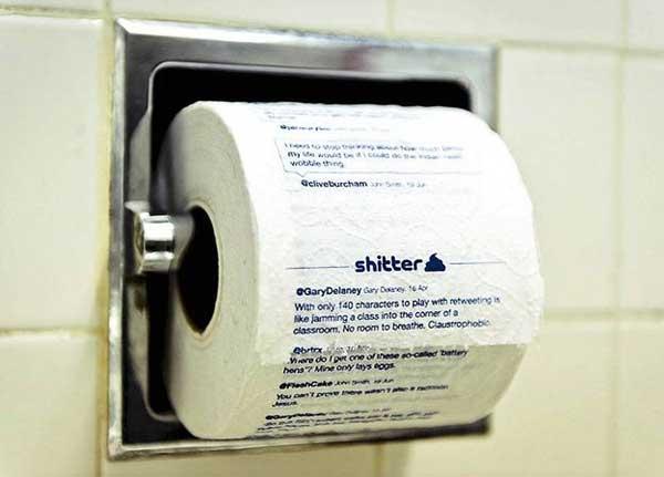 Щебечущая туалетная бумага