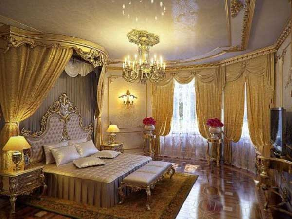 Красивые шторы из дорогой ткани