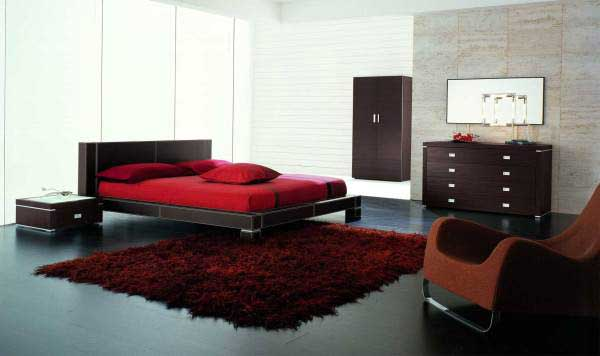 Спальня в стиле «бордо»