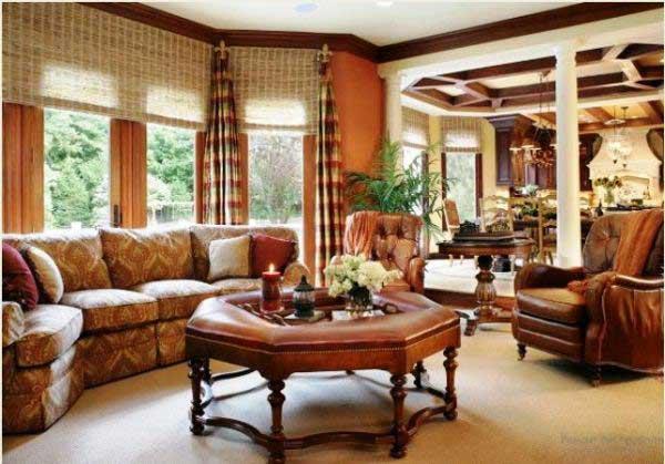 Различные виды штор для гостиной