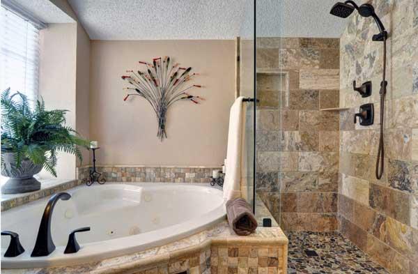 Оригинальный дизайн ванной с джакузи