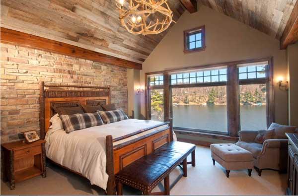 Люстра в эко-стиле для спальни